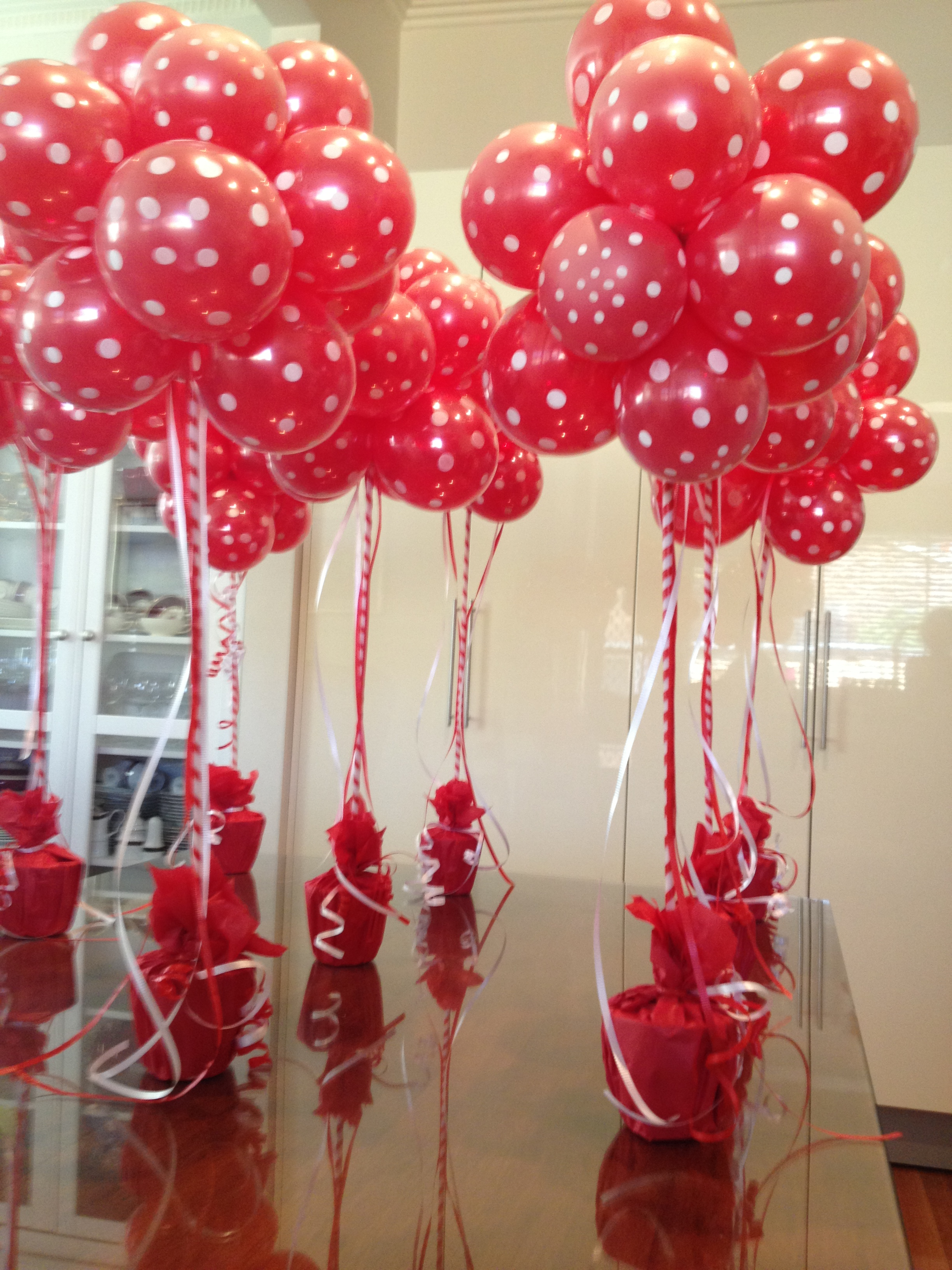 Fire engine party balloons