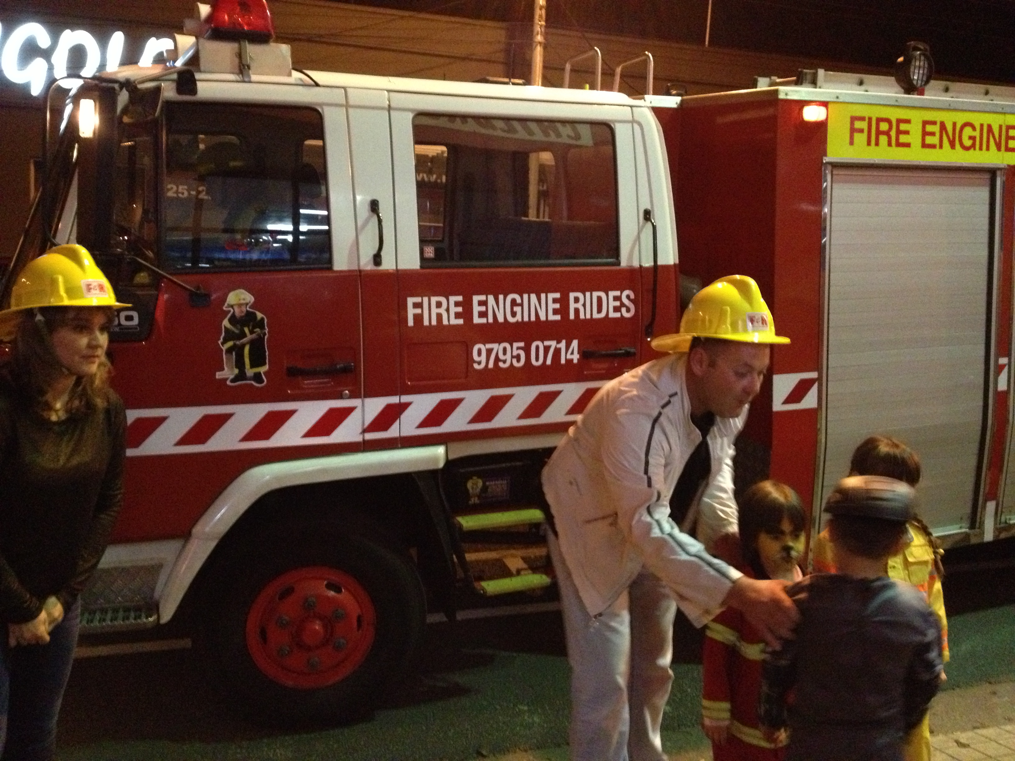 fire engine & fire fighter